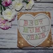 Фирменная декоративная подушка подушечка Лучшая Мама