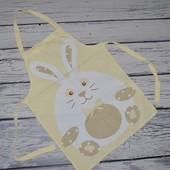 Фирменный фартук фартух для полета души и творчества кролик зайчик