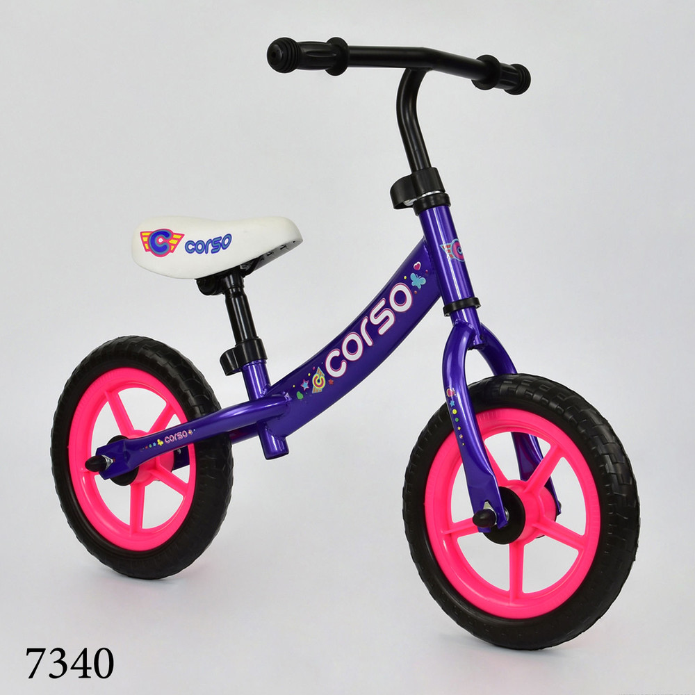 Беговел корсо 12 дюймов eva велобег детский corso фото №1