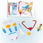Набор доктора Орион 4029, шприц стетоскоп, очки, ножницы, градусник, 9 предметов