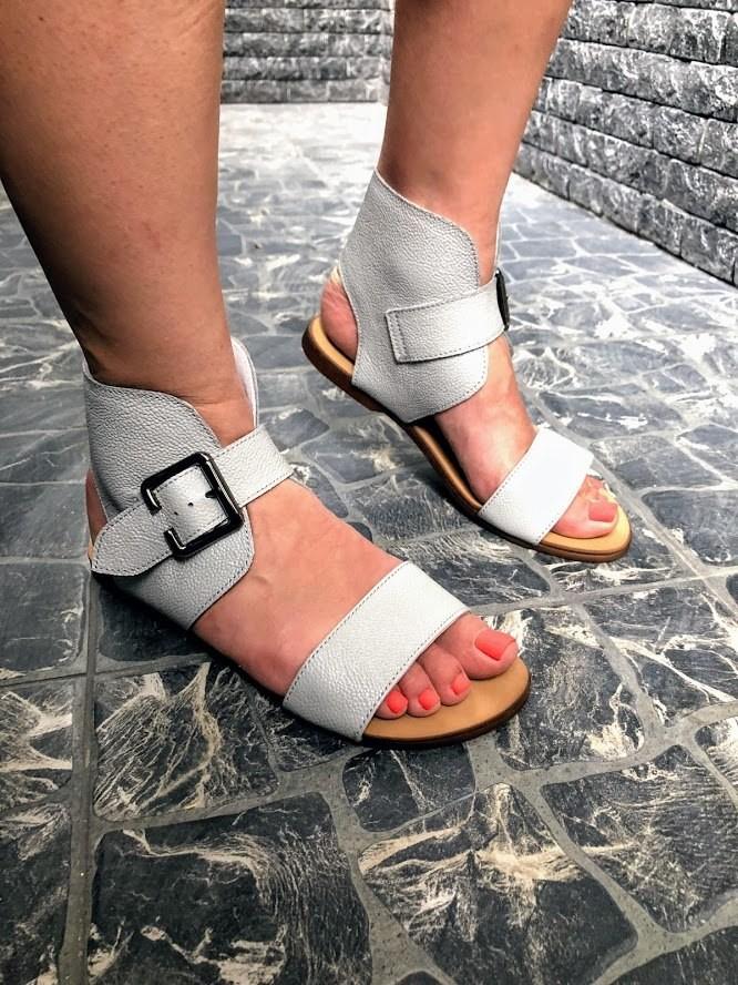 Шикарные сандалии в натуральной замше и коже распродажа фото №1