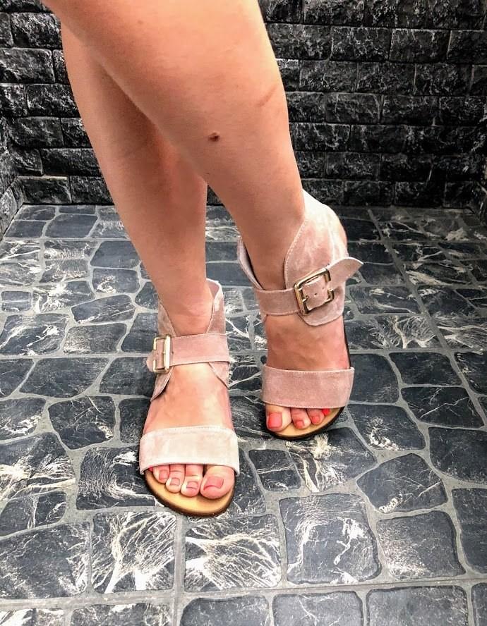Шикарные сандалии в натуральной замше и коже распродажа фото №7