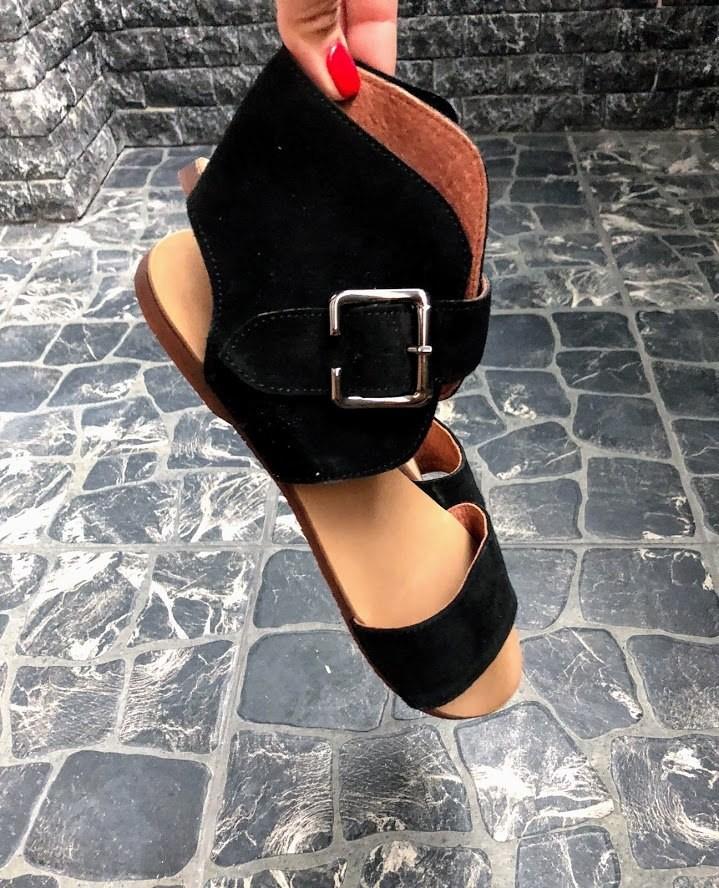 Шикарные сандалии в натуральной замше и коже распродажа фото №8