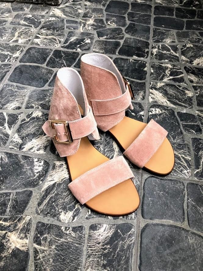 Шикарные сандалии в натуральной замше и коже распродажа фото №21