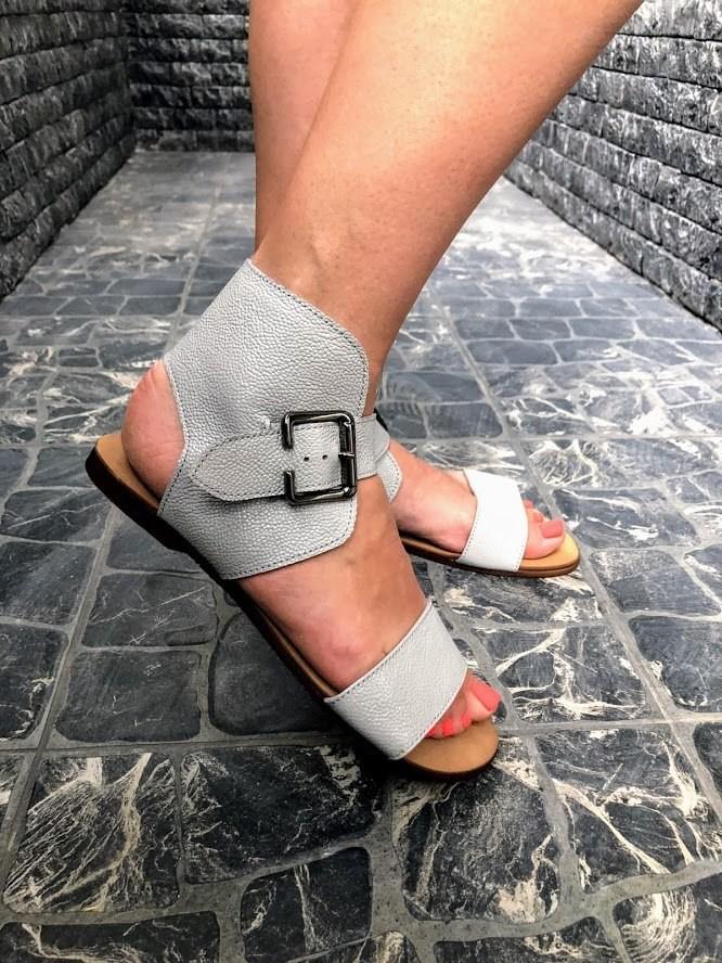 Шикарные сандалии в натуральной замше и коже распродажа фото №11