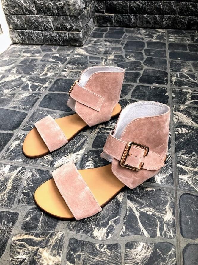 Шикарные сандалии в натуральной замше и коже распродажа фото №13