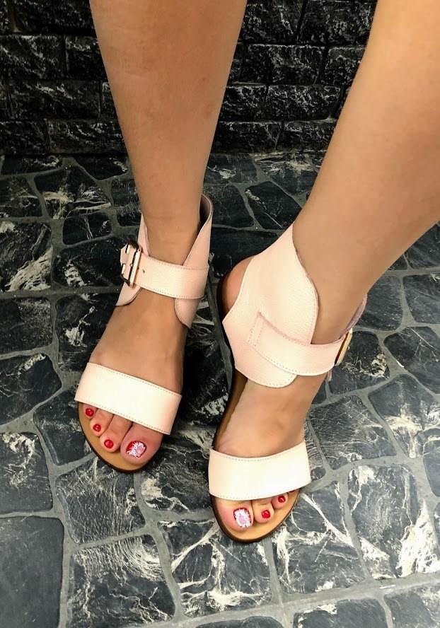 Шикарные сандалии в натуральной замше и коже распродажа фото №9