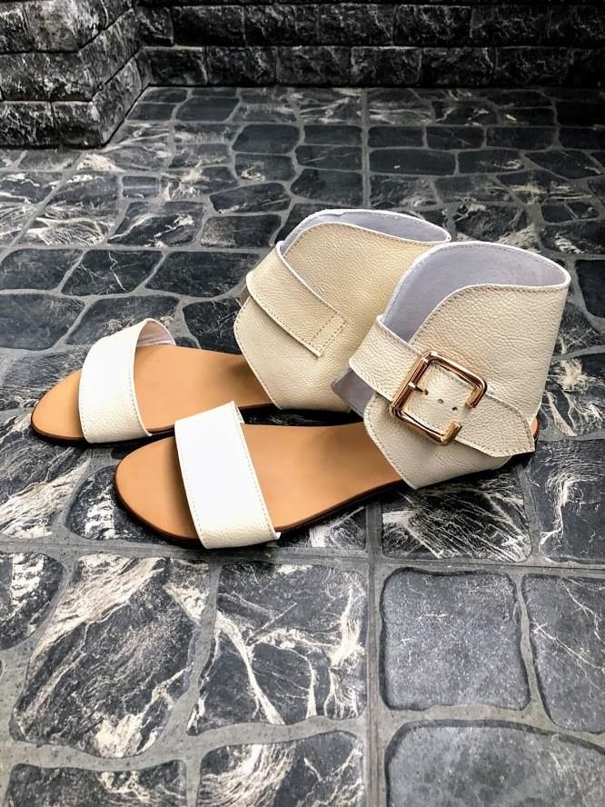 Шикарные сандалии в натуральной замше и коже распродажа фото №17