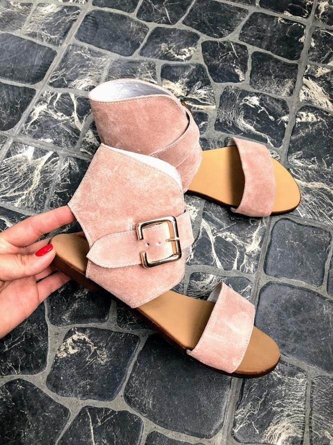 Шикарные сандалии в натуральной замше и коже распродажа фото №2