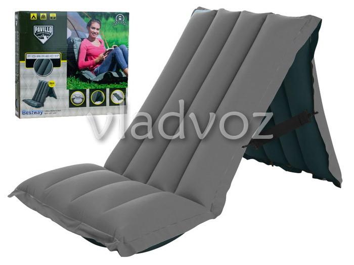 Сверхпрочный надувной матрас кресло для кемпинга туризма фото №1