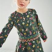 классное платье ☆ I love NEXT ☆ на 4-5л