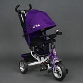 Велосипед детский 3-х колёсный 6588 фиолетовый Best Trike, колесо пена