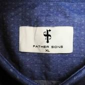 Мужская рубашка в узорчик сочная Father Sons XL L
