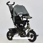 Велосипед трехколесный Best Trikeс фарой и ключом зажигания 6588 В-2920 серый