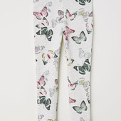 Леггинсы для девочки H&M цветные бабочки