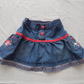 6-12 мес., р. 68-80, модная джинсовая юбка Tu