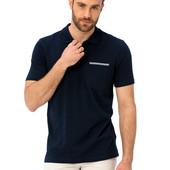 мужское синее поло LC Waikiki / Лс Вайкики с карманом на груди