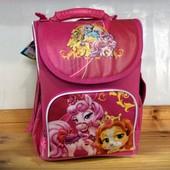 Ортопедический каркасный школьный рюкзак пони