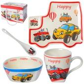 Подарочный Набор детской посуды керамика 4 предмета