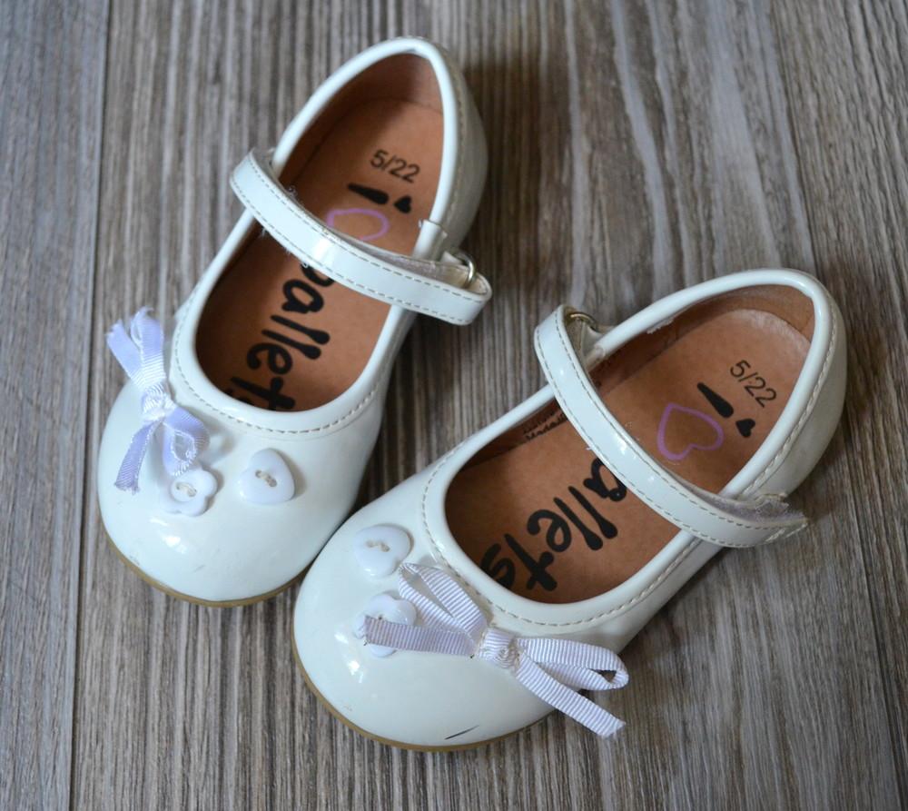 Балетки туфли белые george (22) фото №1