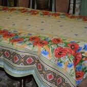 Скатерть вышиванка в украинском стиле 150х220