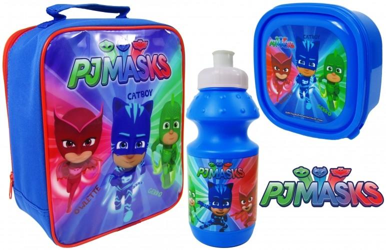 Наборы 3в1 для завтраков ланчбокс, бутылочка для воды, сумка герои в масках фото №1