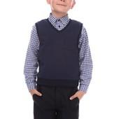 Жилет для мальчика.Черный,серый и синий цвет.