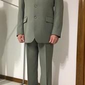 Мужской светлы  деловой костюм, классика M-L