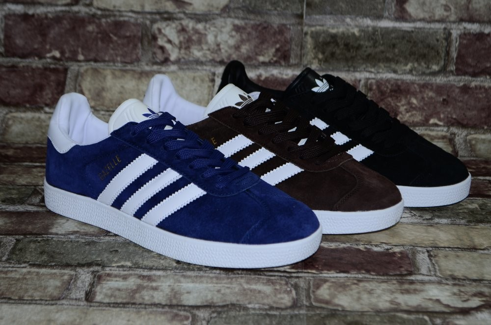 Замшевые мужские кроссовки (кеды) Adidas Gazelle Адидас 3х цветов фото №1