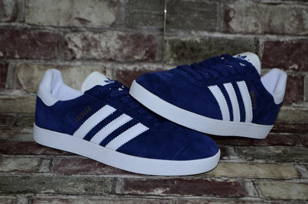 Замшевые мужские кроссовки (кеды) adidas gazelle адидас 3х цветов фото №4