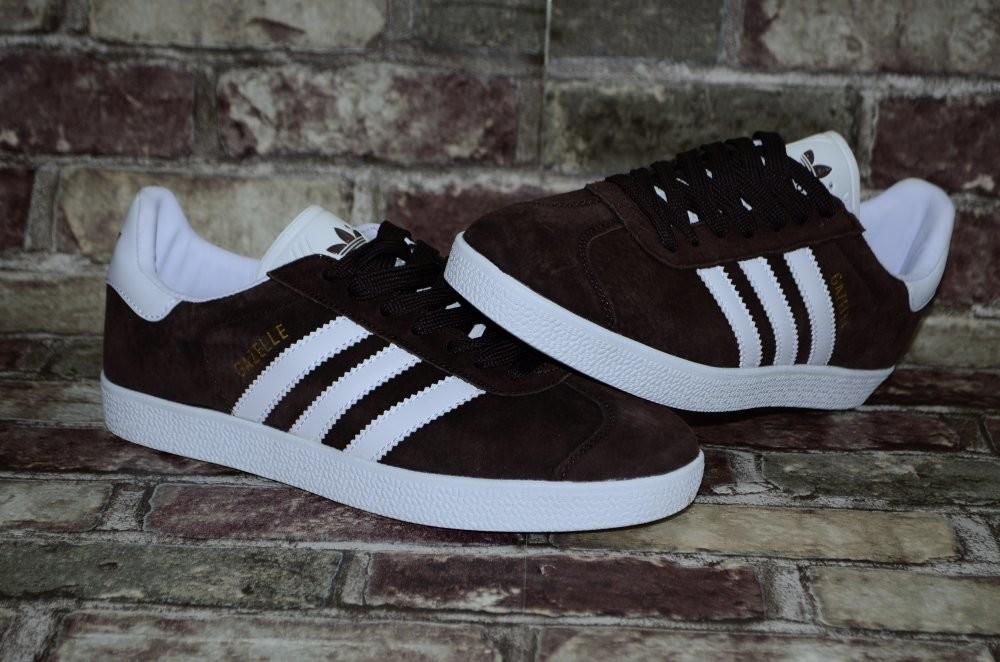 Замшевые мужские кроссовки (кеды) adidas gazelle адидас 3х цветов фото №5