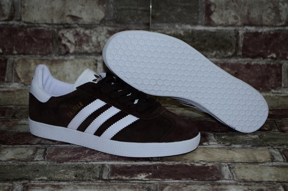 Замшевые мужские кроссовки (кеды) adidas gazelle адидас 3х цветов фото №7