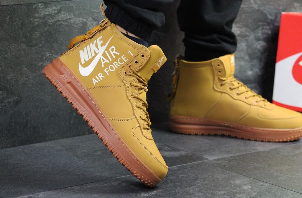 Зимние мужские кроссовки nike air force ginger фото №1