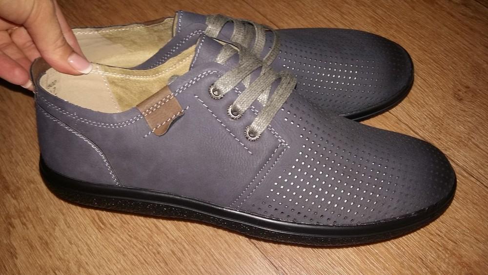 В наличии мужские туфли перфорация фото №1