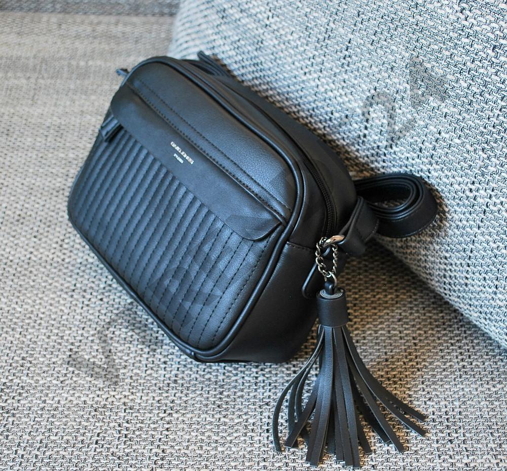 b9809817a0a6 #3977 black david jones новинка женский стильный клатч с кисточкой! фото №1