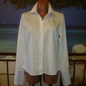 Рубашка приталенная хлопковая под запонки р.10-12 Savile Row