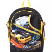 Школьный рюкзак с машинками, новый