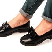 Шикарные туфельки на тракторной подошве  очень удобные