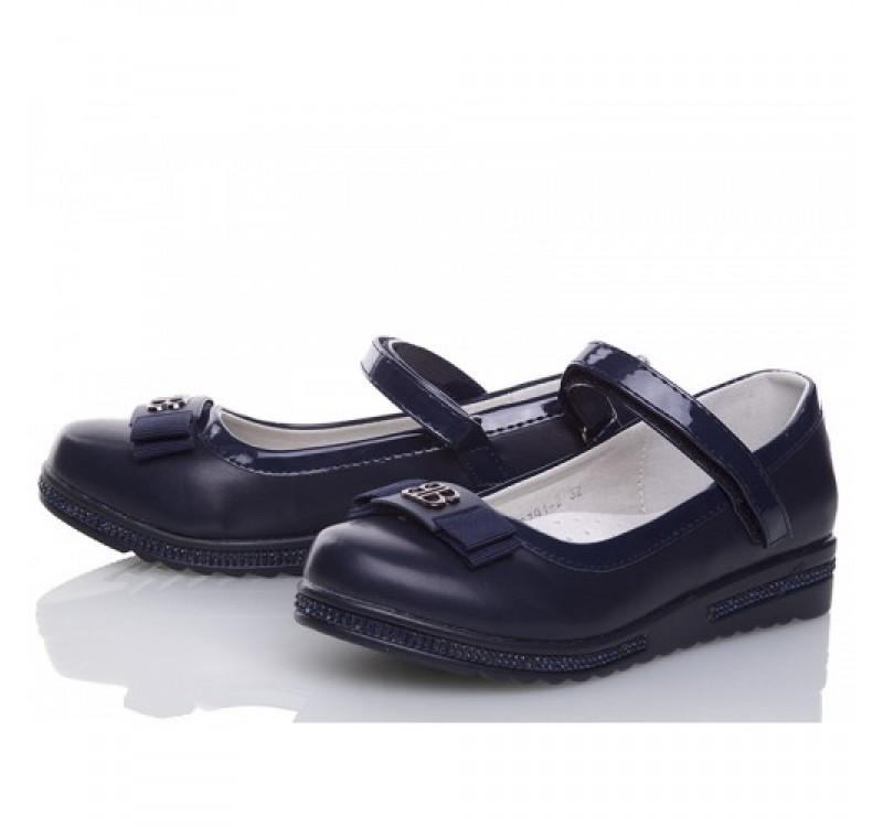 Туфли для девочки winiko 32, 33, 34, 35, 36, 37(р) синий nc791-2  школьные туфли для девочки синего фото №1
