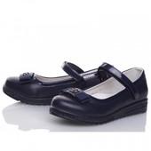 Туфли для девочки Winiko 32, 33, 34, 35, 36, 37(р) синий nc791-2  Школьные туфли для девочки синего