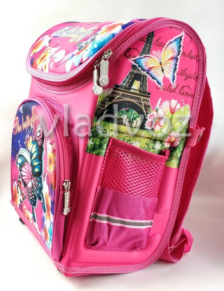 Школьный каркасный рюкзак для девочек бабочки butterfly фото №2