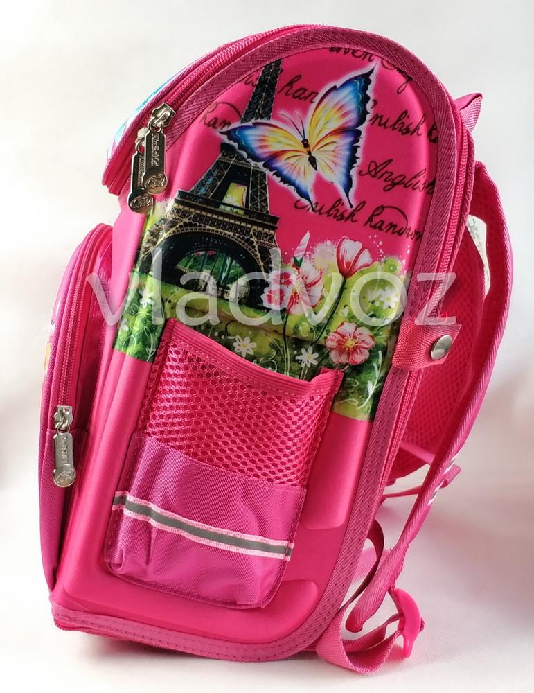Школьный каркасный рюкзак для девочек бабочки butterfly фото №3
