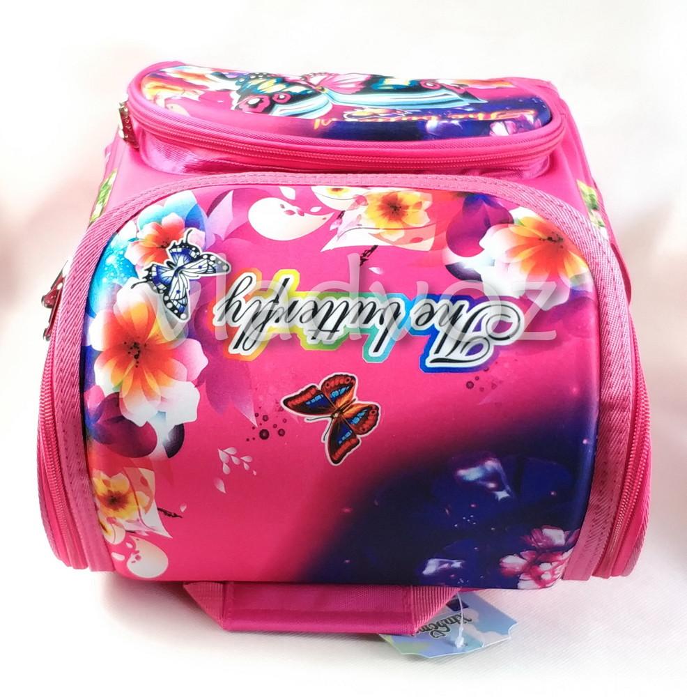 Школьный каркасный рюкзак для девочек бабочки butterfly фото №5