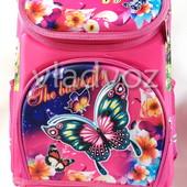 Школьный каркасный рюкзак для девочек бабочки butterfly