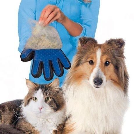 Перчатка для вычесывания шерсти true тouch. супер цена - 55гр. !!! фото №1