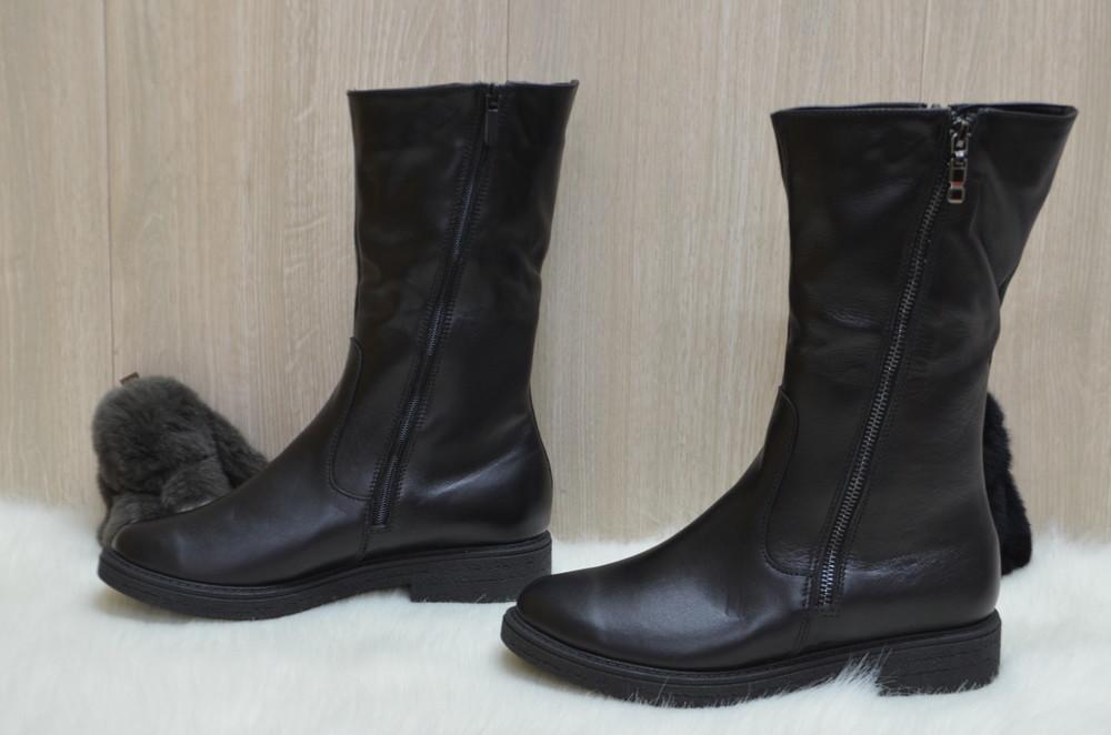Кожаные зимние ботинки фото №2