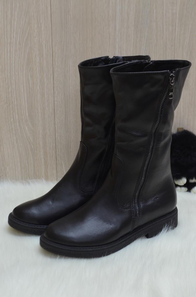 Кожаные зимние ботинки фото №3