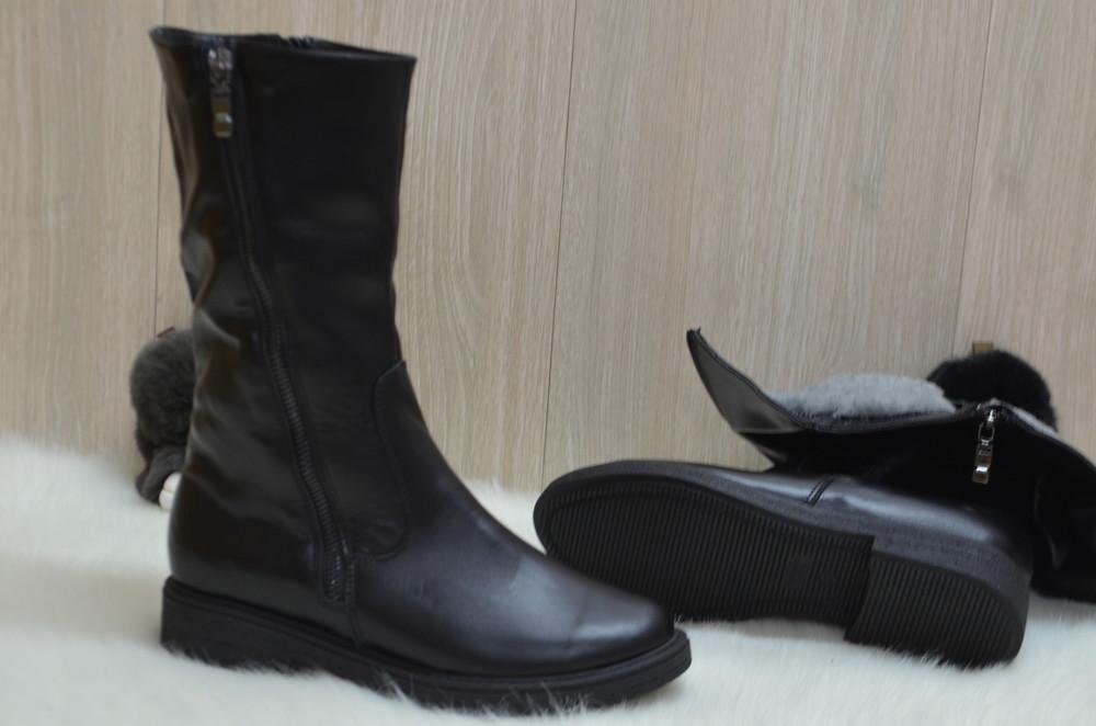 Кожаные зимние ботинки фото №5