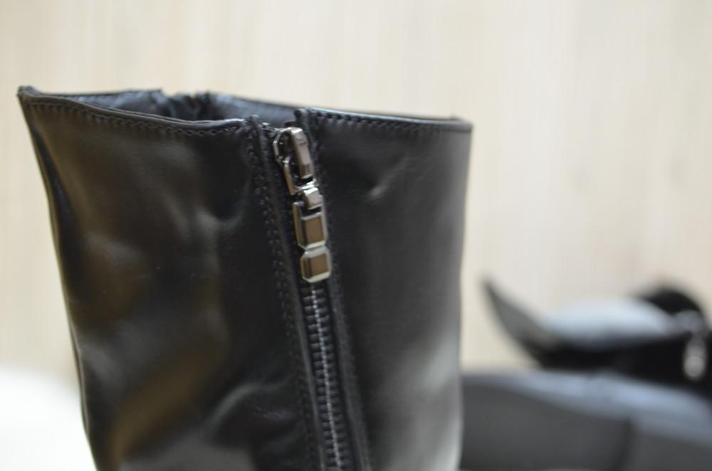 Кожаные зимние ботинки фото №6