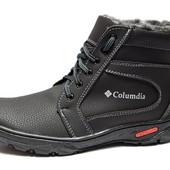 Ботинки мужские на Зиму, шнуровка и молния (МК-05-П)